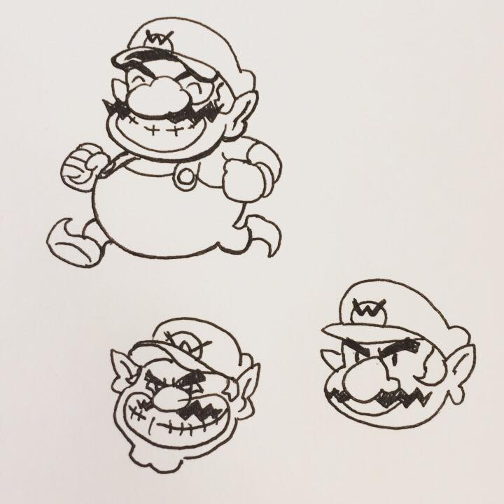 Inktober Day 12: Wario Party